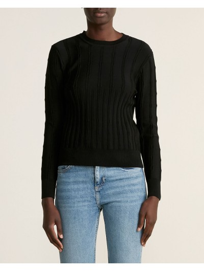 Wide Ribbed Knit Top