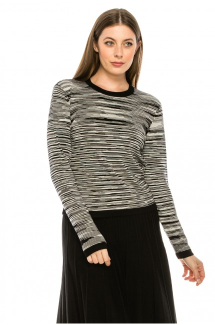 Black and White Abstract Line Sweater