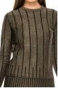 Lurex Striped Gold Sweater