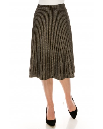 Lurex Striped Gold Skirt